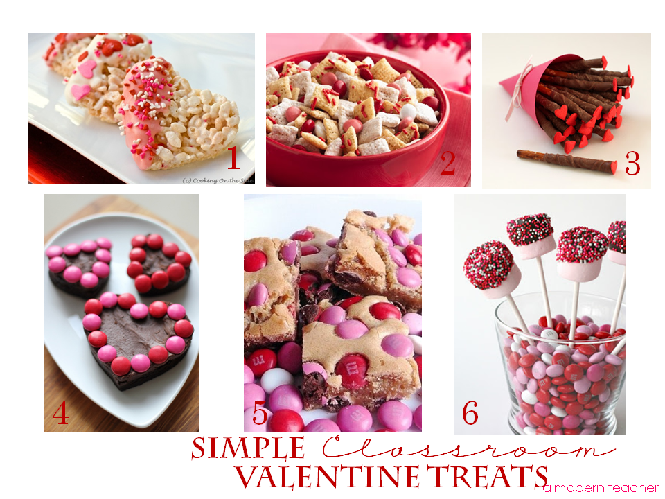 Valentine s classroom party and freebie too a modern for Valentines day party foods