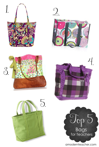 Top 5 Bags for Teachers {I asked, You Answered} - A Modern Teacher