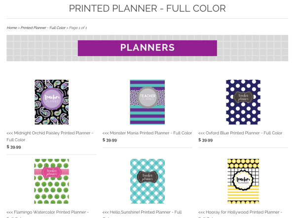 Printed Lesson Planners in Full color A Modern Teacher