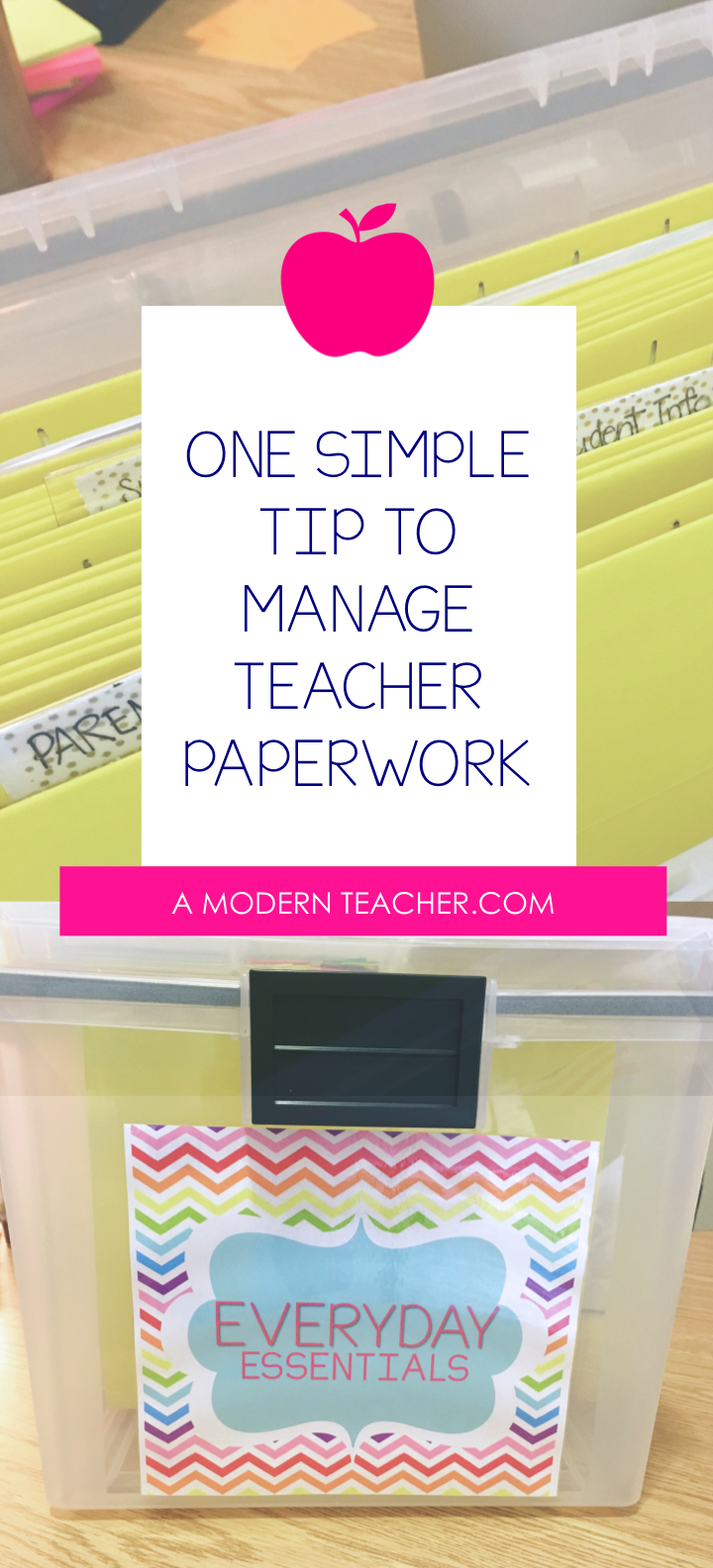 Modern Classroom Management Strategies : One simple tip to organize teacher paperwork a modern