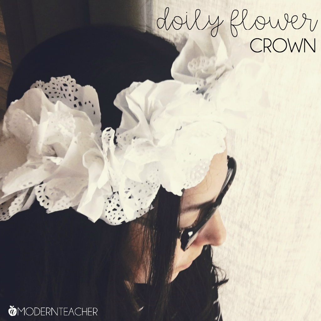 DIY Doily Flower Crown