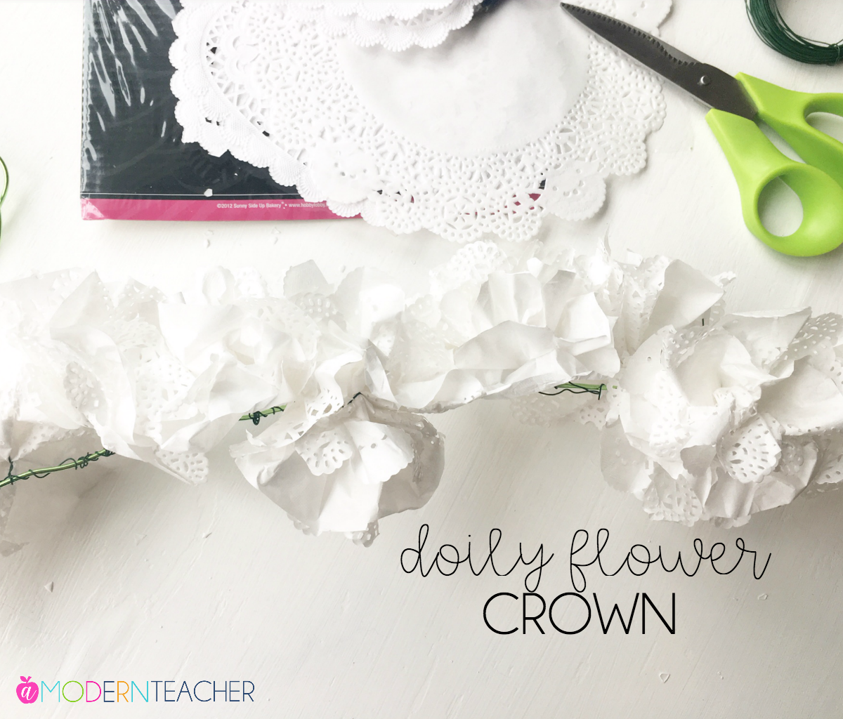doily paper flower crown